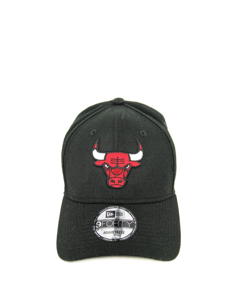 New Era Bulls 9FORTY Logo Snapback Black