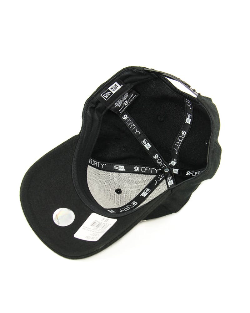 New Era Spurs 9FORTY Logo Snapback Black