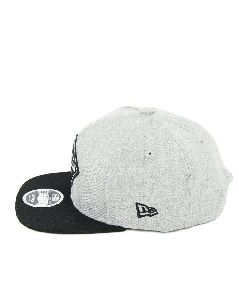 New Era Dodgers Heather Patch of Snapback Heather Grey/black