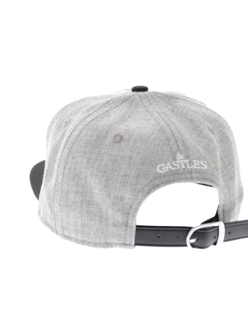 Crooks & Castles Serif Strapback Grey/black