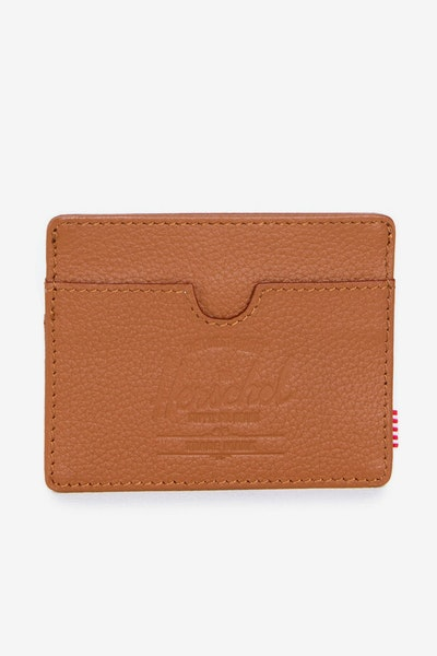Herschel Bag CO Charlie Leather Wallet Tan Pebble