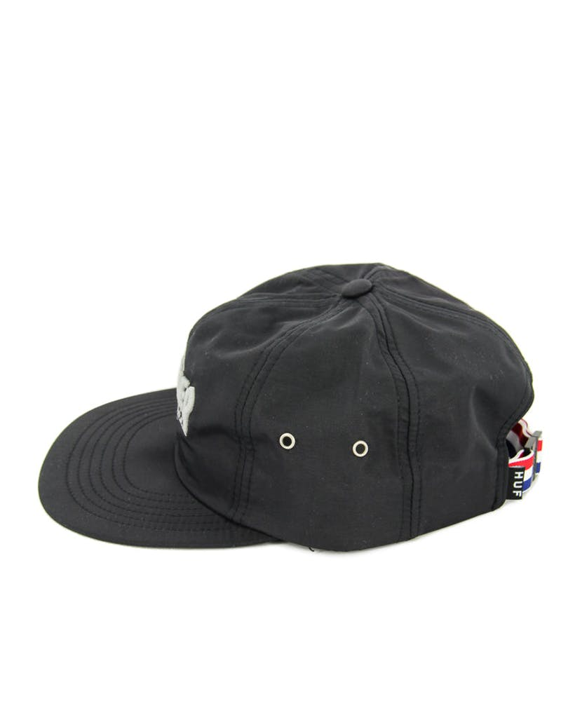 Thrasher 6 Panel Strapback Black