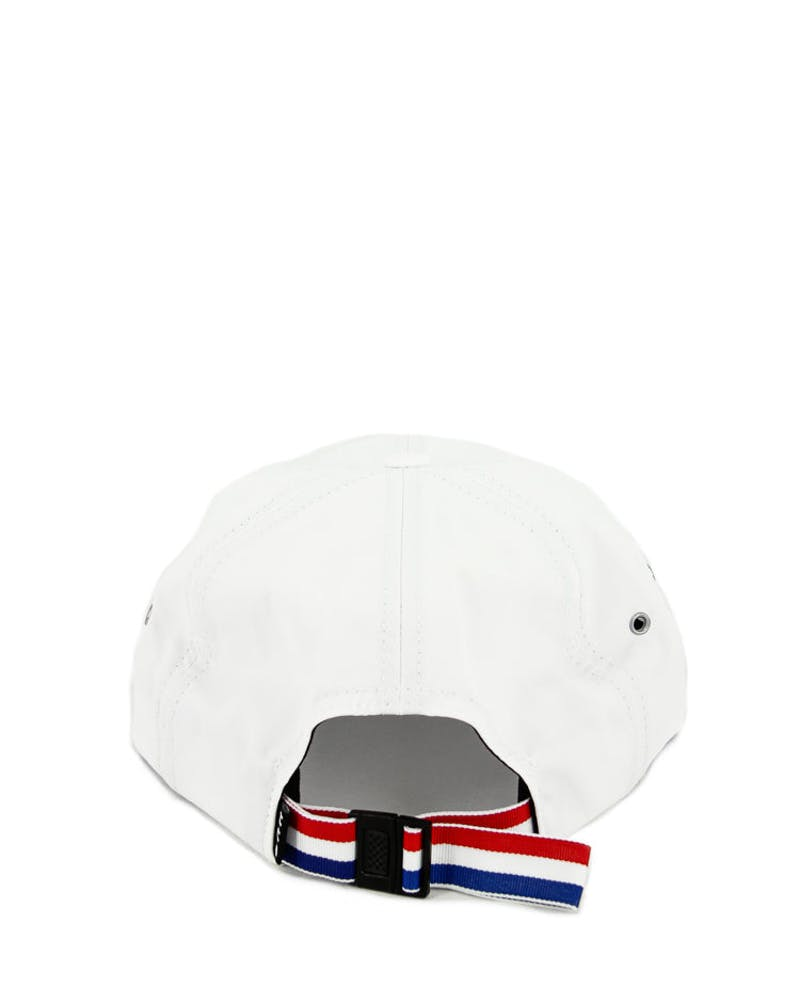 Thrasher 6 Panel Strapback White
