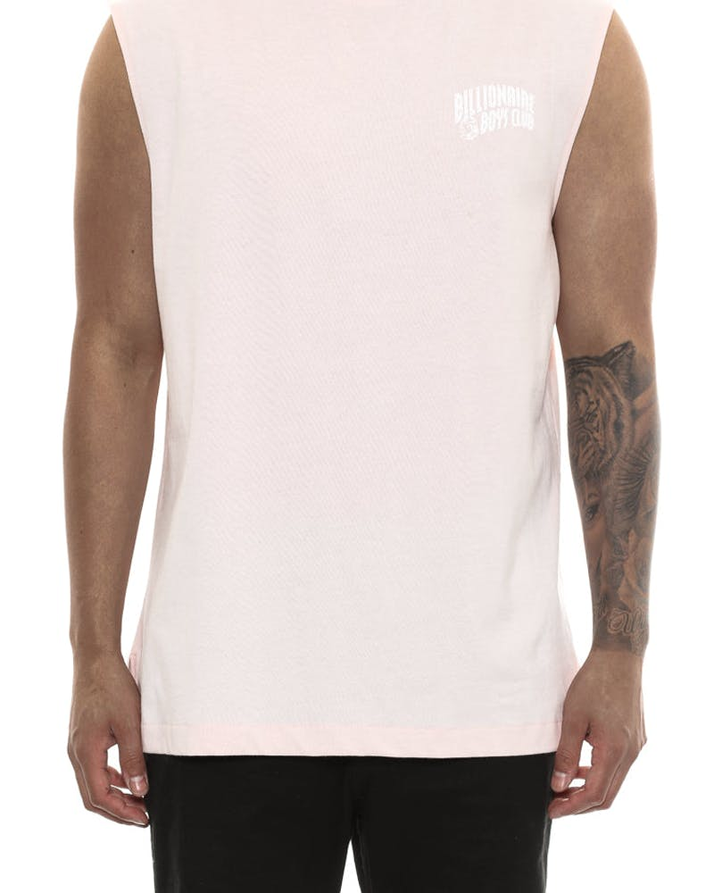 Billionaire Boys Club Small Arch Logo Muscle Tank Pink/white
