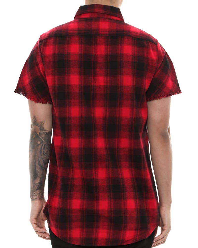 Saint Morta Sensei Short Sleeve Button Up Red/black