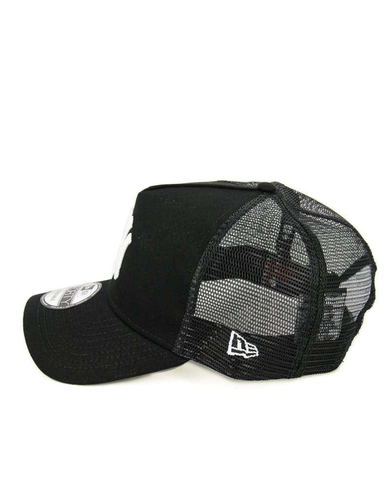 New Era Yankees 9FORTY A-Frame Trucker Black/white