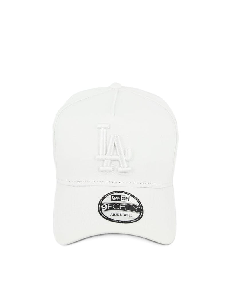 New Era Dodgers 9FORTY A-Frame Snapback White/white