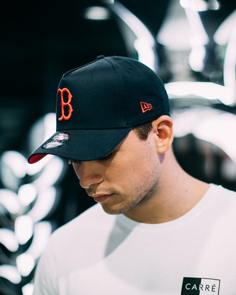New Era Red Sox 9FORTY A-Frame Snapback Navy/scarlet