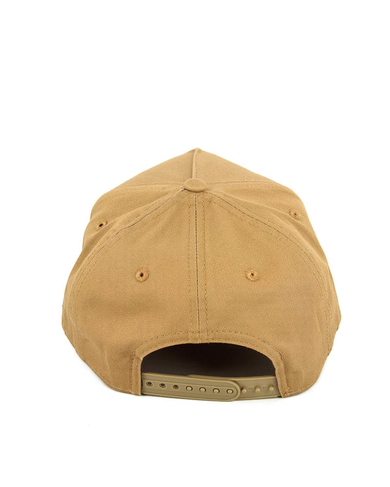 New Era Dodgers 9FORTY A-Frame Gel Snapback Wheat