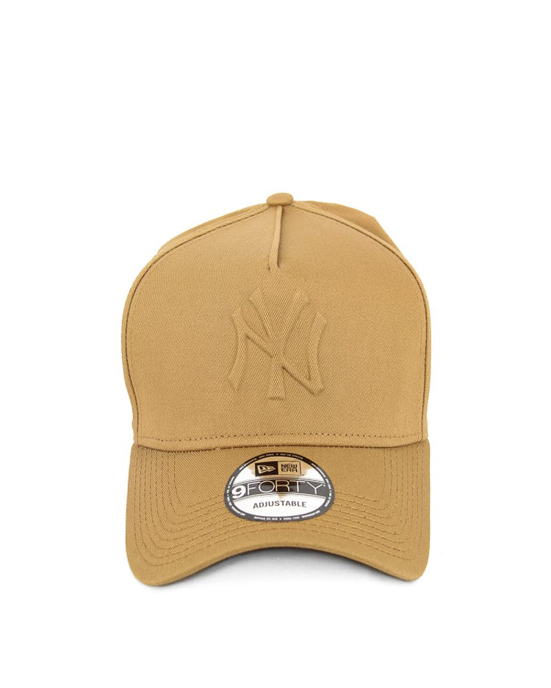 New Era Yankees 9FORTY A-Frame Gel Snapback Wheat