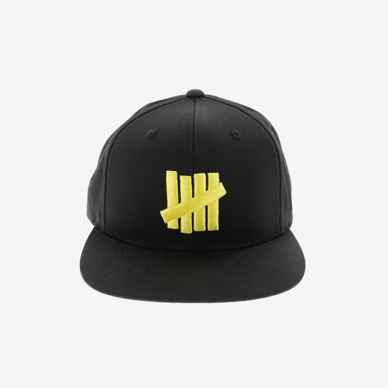 Undefeated 5 Strike Snapback Black yellow – Culture Kings US 442725c9795
