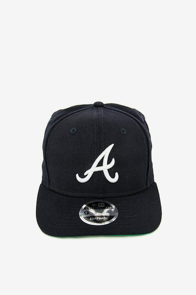 New Era Braves 9FIFTY Precurved Original Fit Snapback Navy white + Quick  View 00bfca8549ea