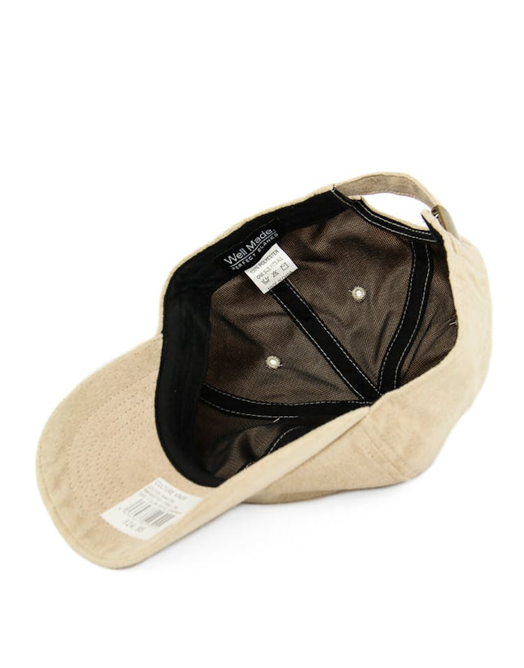 Well Made Take it Slow Suede Strapback Camel