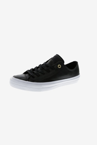 Converse Women's Chuck II OX Craft LTHR Black/White