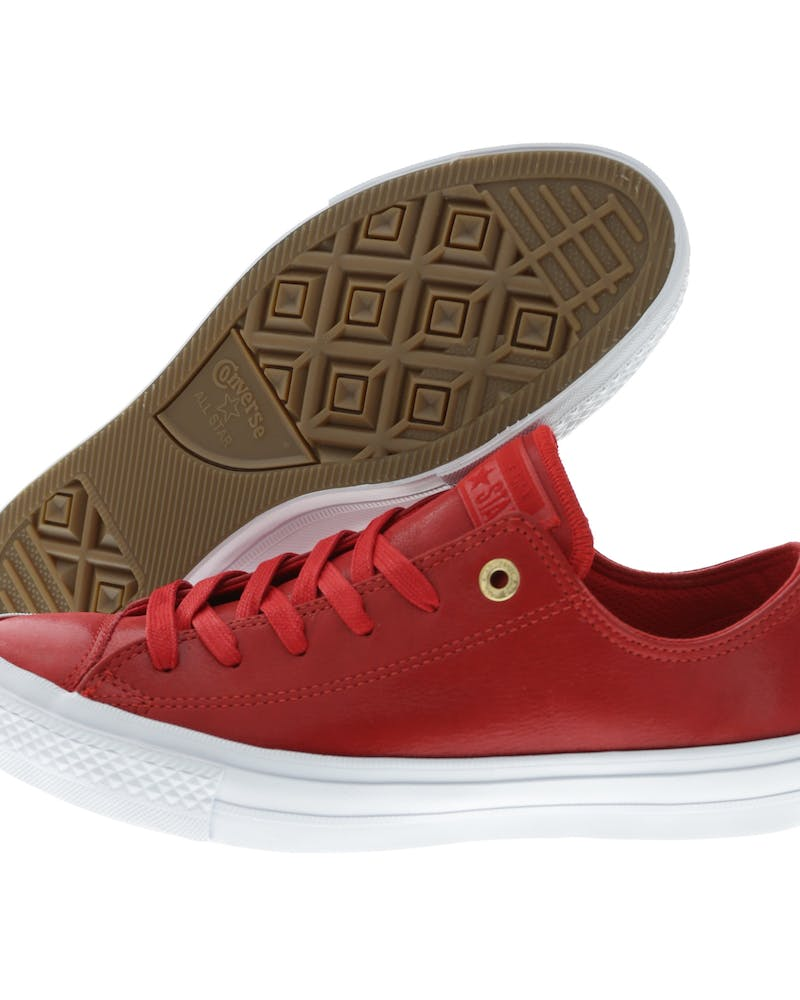 Converse Women's Chuck II Craft Leather Red/White