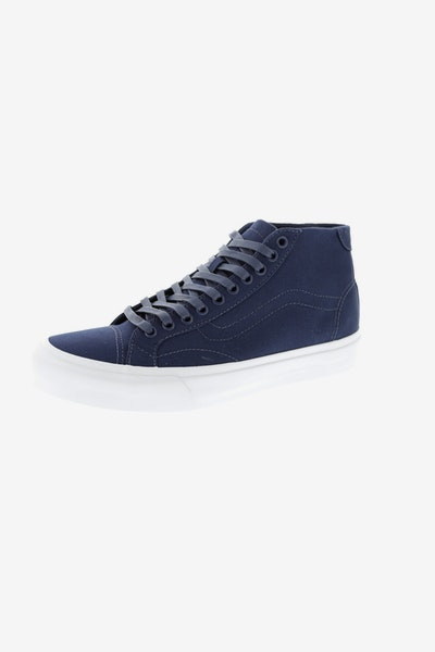 Vans Court Mid (Canvas) Navy/White