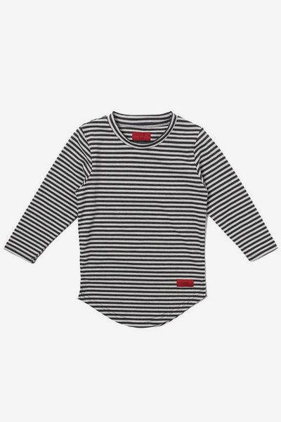 Haus of JR Raven Stripe L/S White/Grey