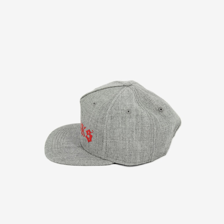 Crooks & Castles The Player Snapback Grey/Red