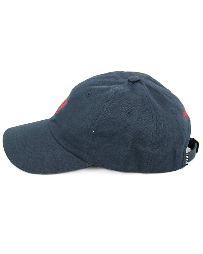 Huf Classic H Curved Strapback Dark Navy/Red