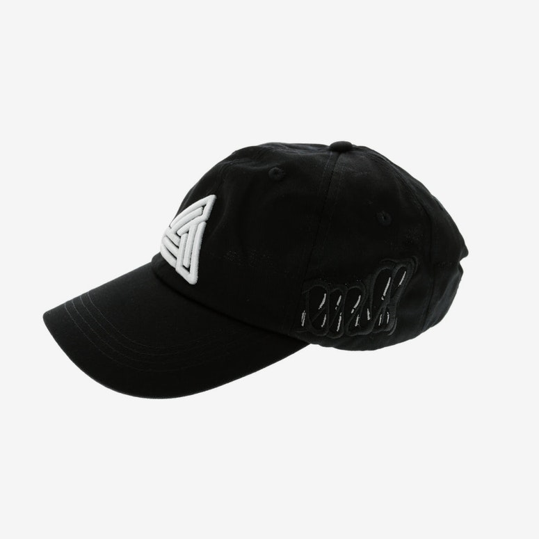 Black Pyramid Monster Teeth Dad Hat Black
