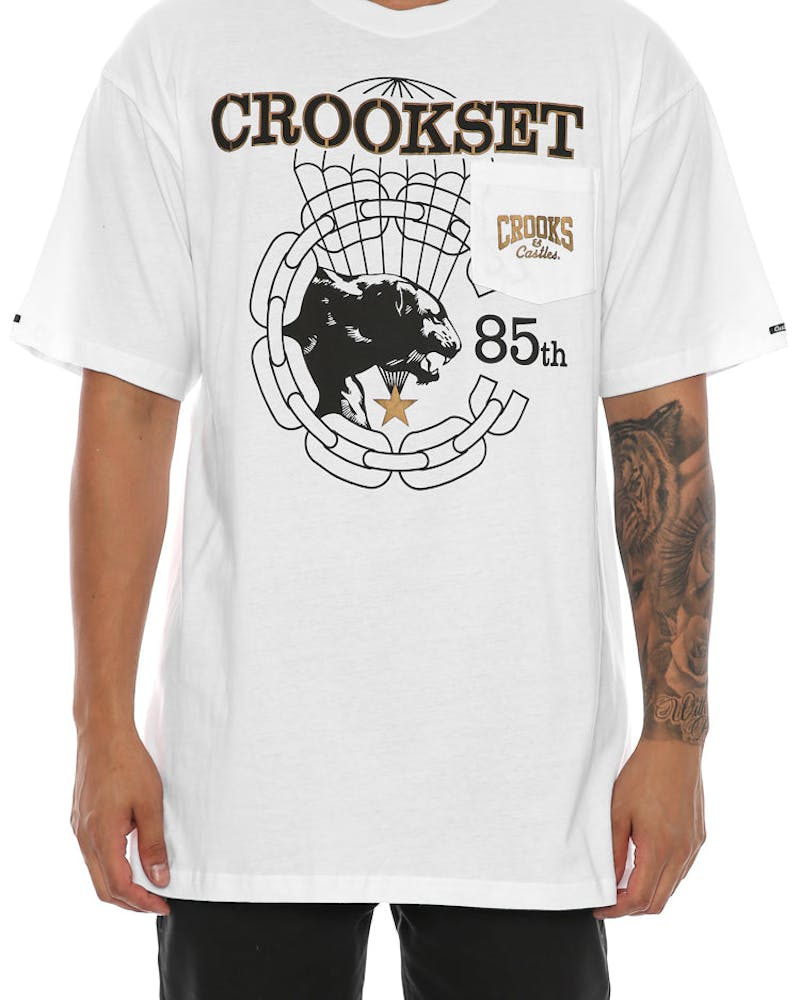 Crooks & Castles Crookset Pocket Tee White