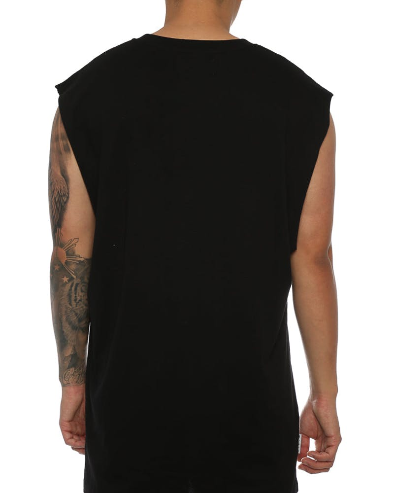 Saint Morta Cobain Oversized Muscle Tee Black