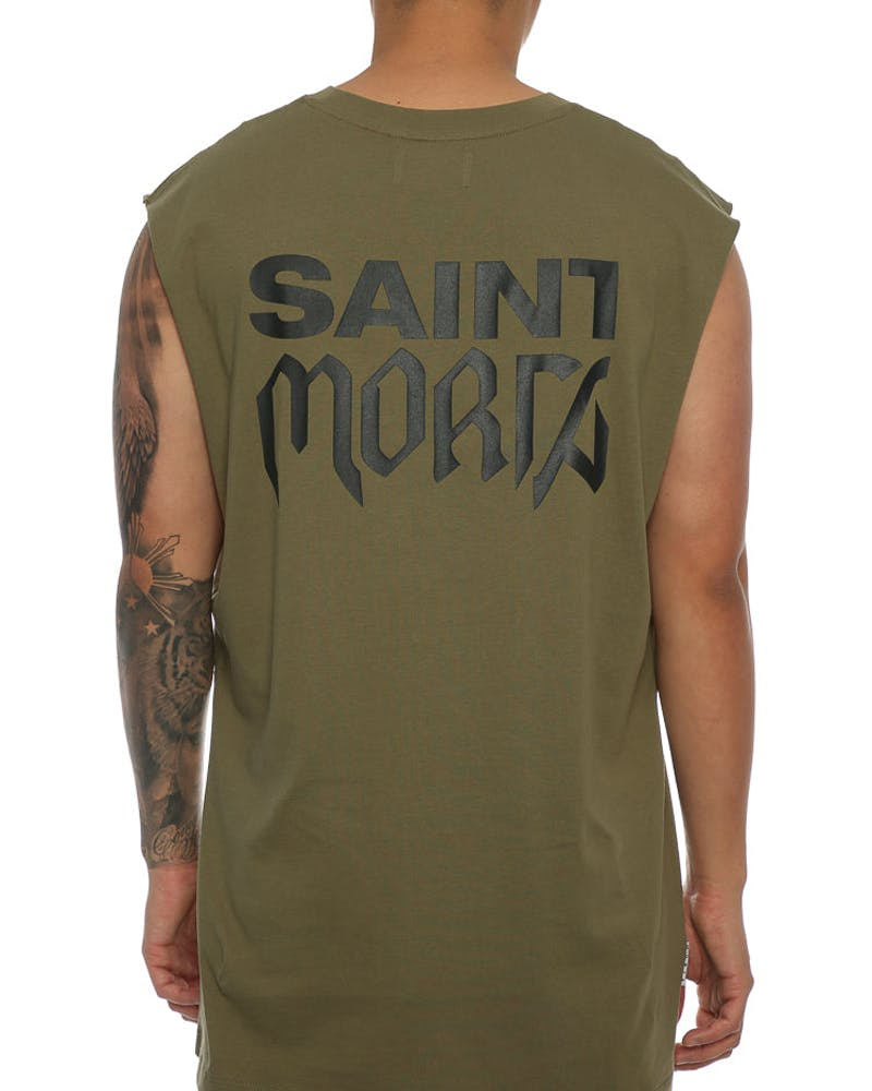 Saint Morta Tour Oversized Muscle Tee Pale Green