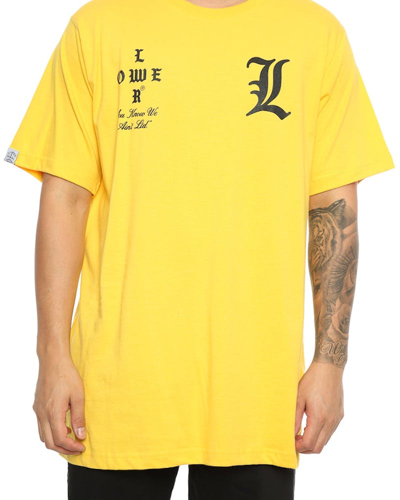 Lower Curve QRS Tee Yellow