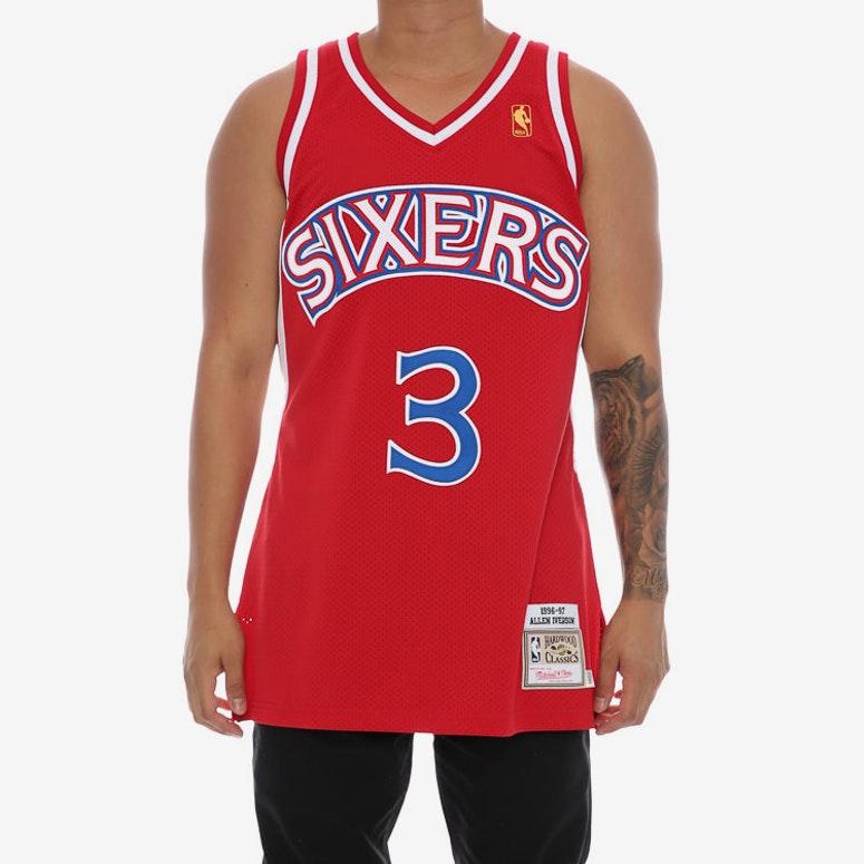 Mitchell   Ness Philadelphia 76ers Allen Iverson  3  1996-97 Hardwood  Classics Rookie 8733e1922