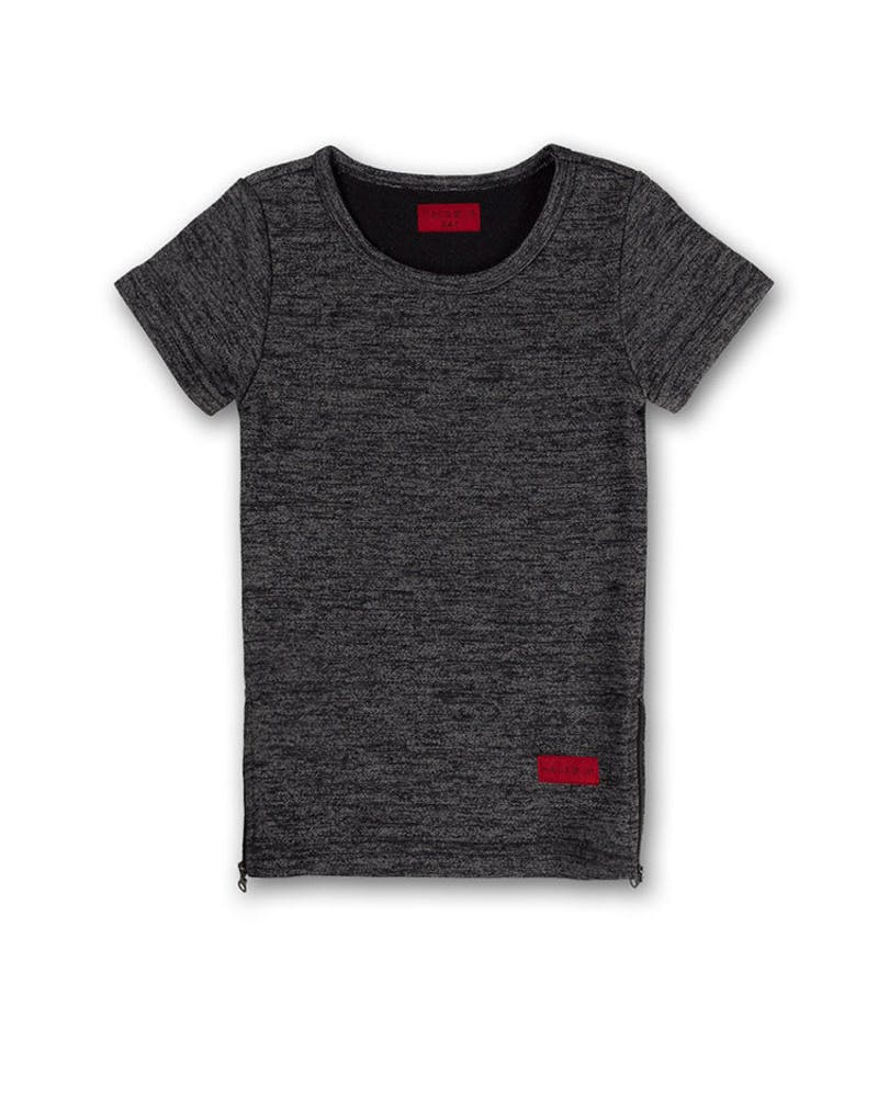 Haus of JR Harper Tee Charcoal
