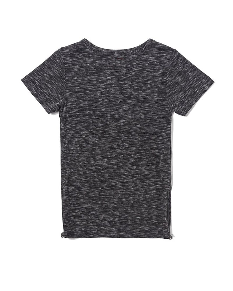 Haus of JR Parker Side Zip Tee Charcoal