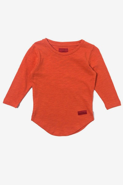 Haus of JR Trevor L/S Scallop Tee Orange