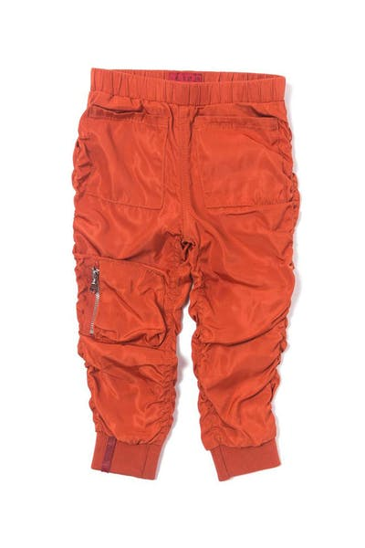 Haus of JR Devin Satin Bomber Pant Orange