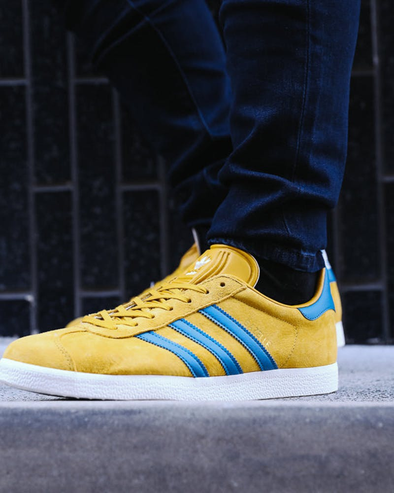 Adidas Originals Gazelle Mustard/White/Blue