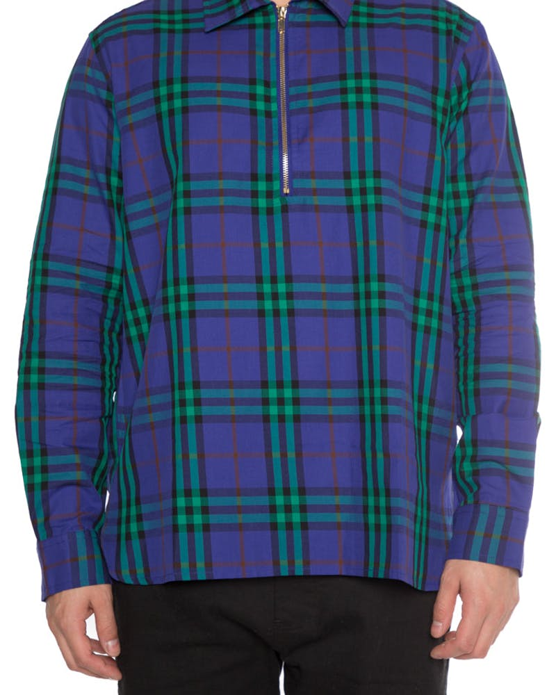 EPTM Half Zip Flannel Purple