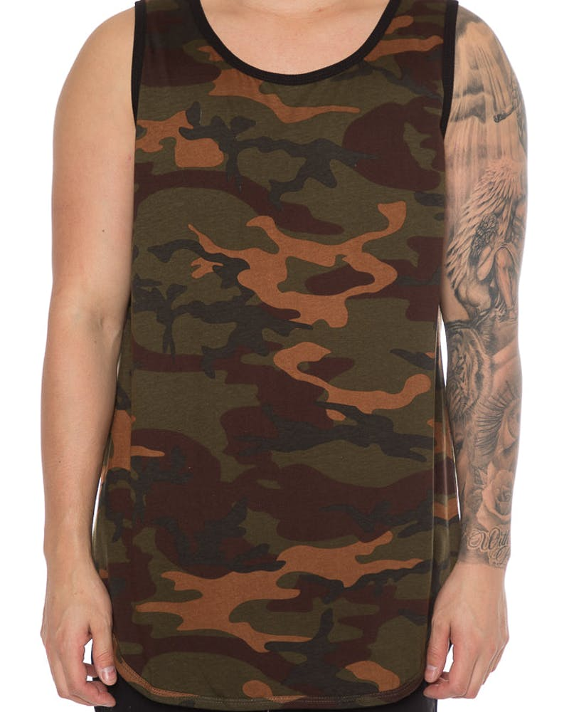 EPTM Camo OG Long Tank Top Dark Camo