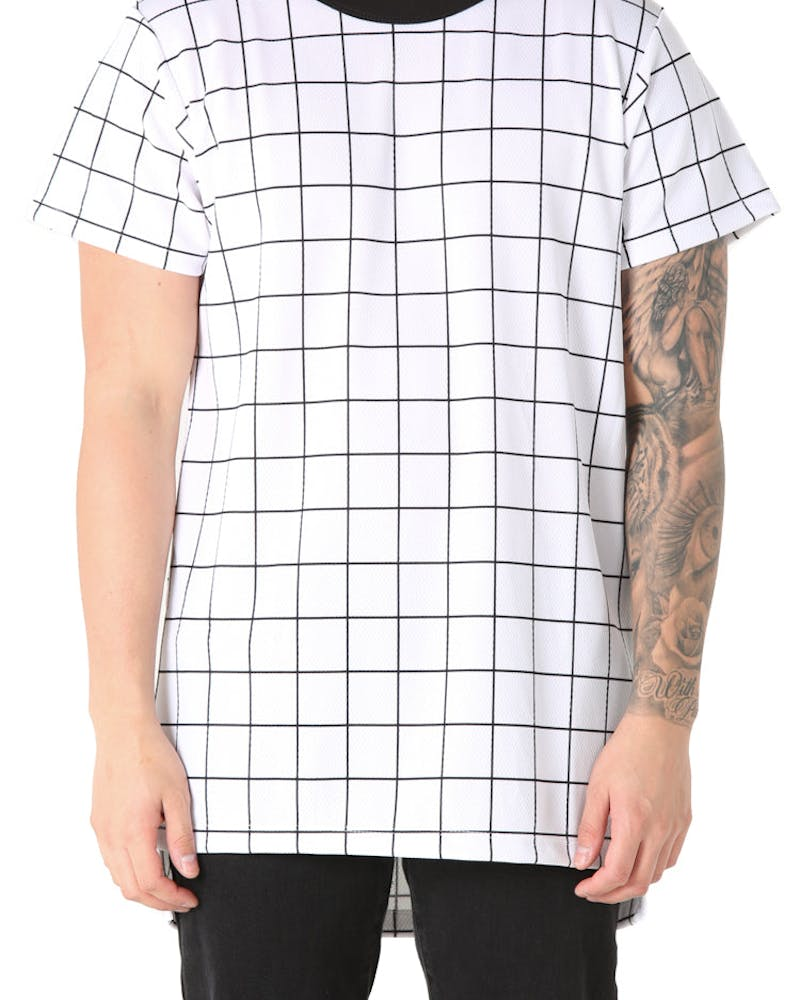 EPTM SQ Bottom Long Tee White/Black