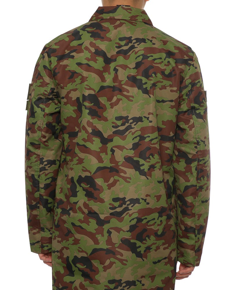 Dxpe Chef MILITARY PATCH COACH JACKET Camo