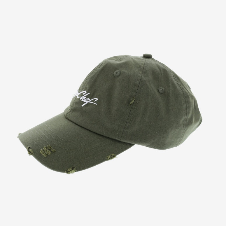Dxpe Chef Distressed Logo Snapback Olive