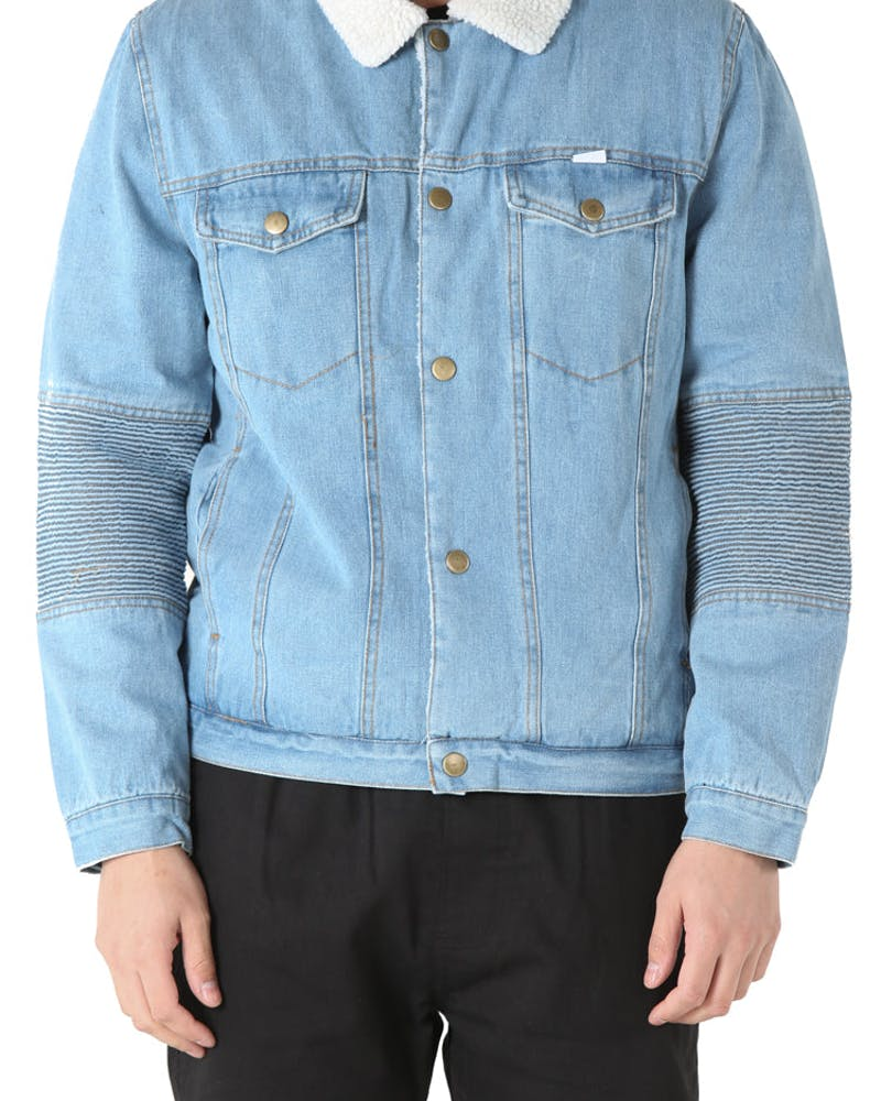 Kloude Clothing Shabba Sherpa Jacket Light Blue