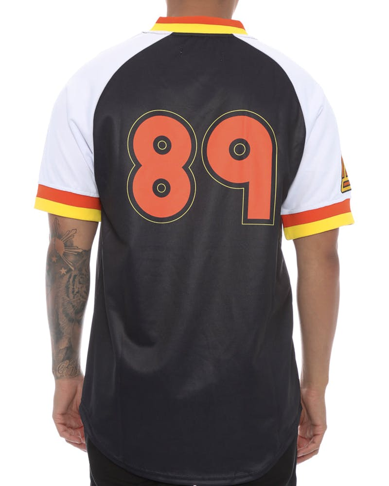 Black Pyramid 89 Baseball Jersey Black