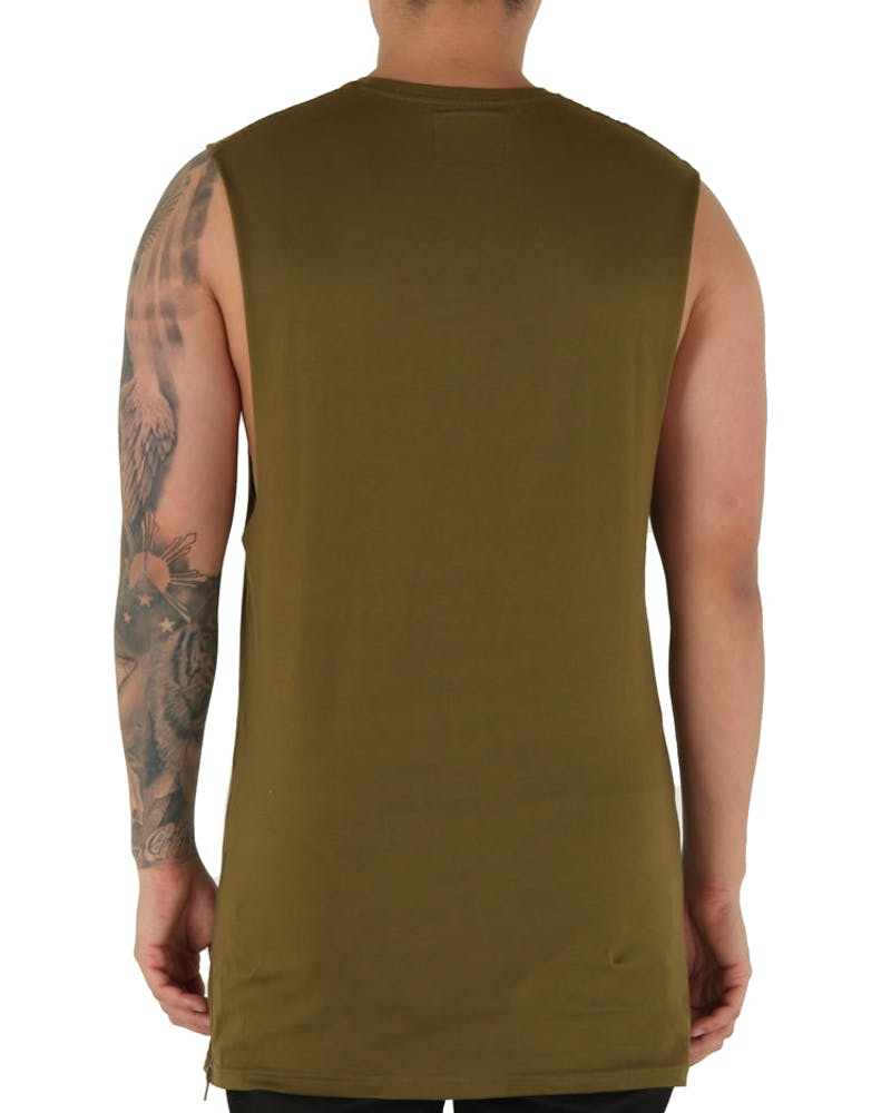Carré Team Paris Capone Muscle Tee Olive