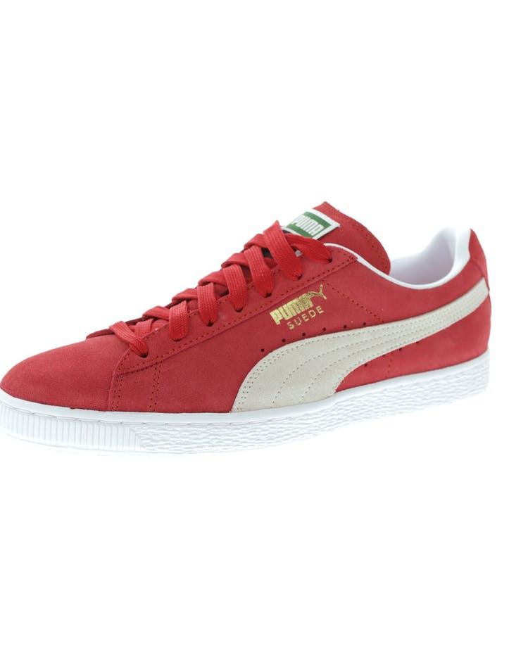 newest 81e4b bc555 Puma Suede Classic + Red/White