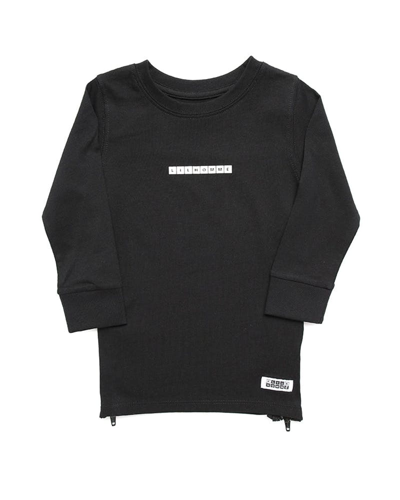 Lil Homme Lil Cube Capone L/S Tee Black