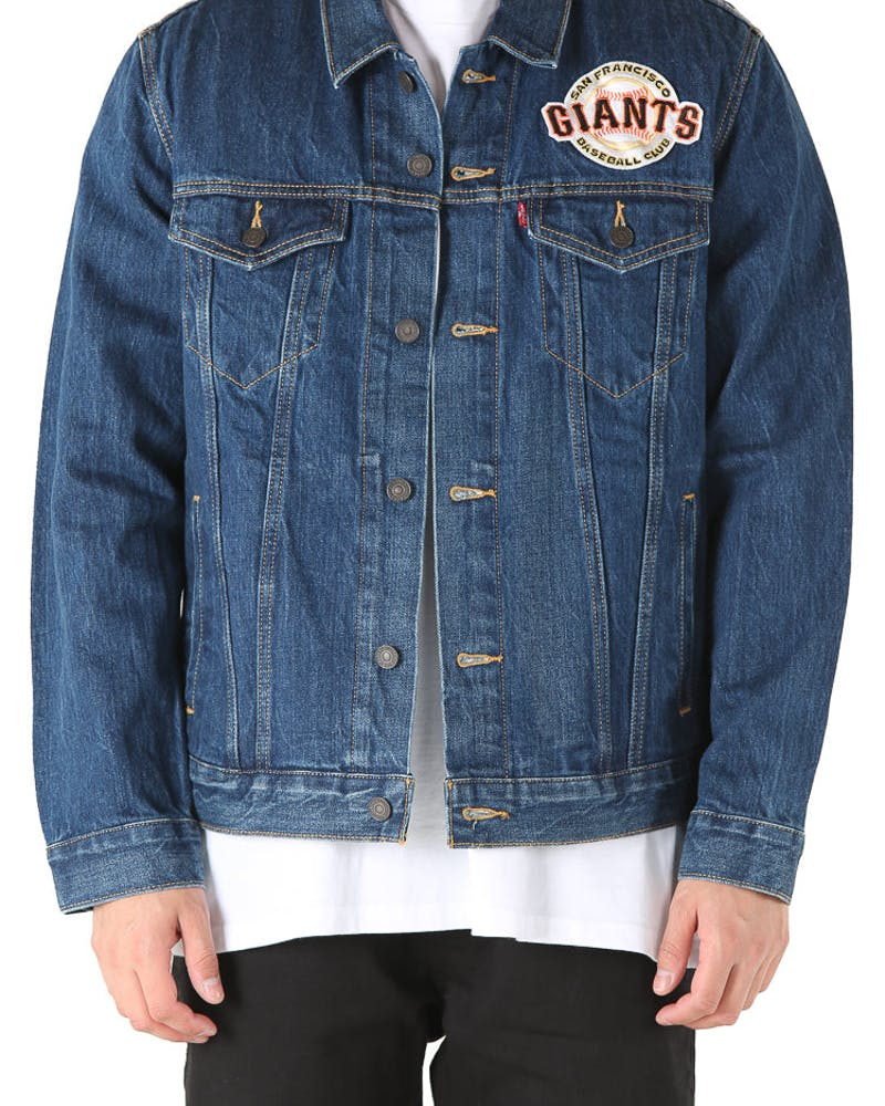 Levi Strauss And Co San Francisco Giants Denim Jacket Blue