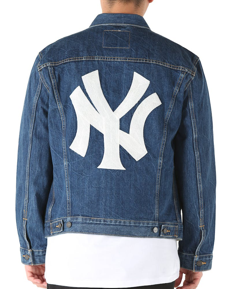 Levi Strauss And Co New York Yankees Denim Jacket Blue