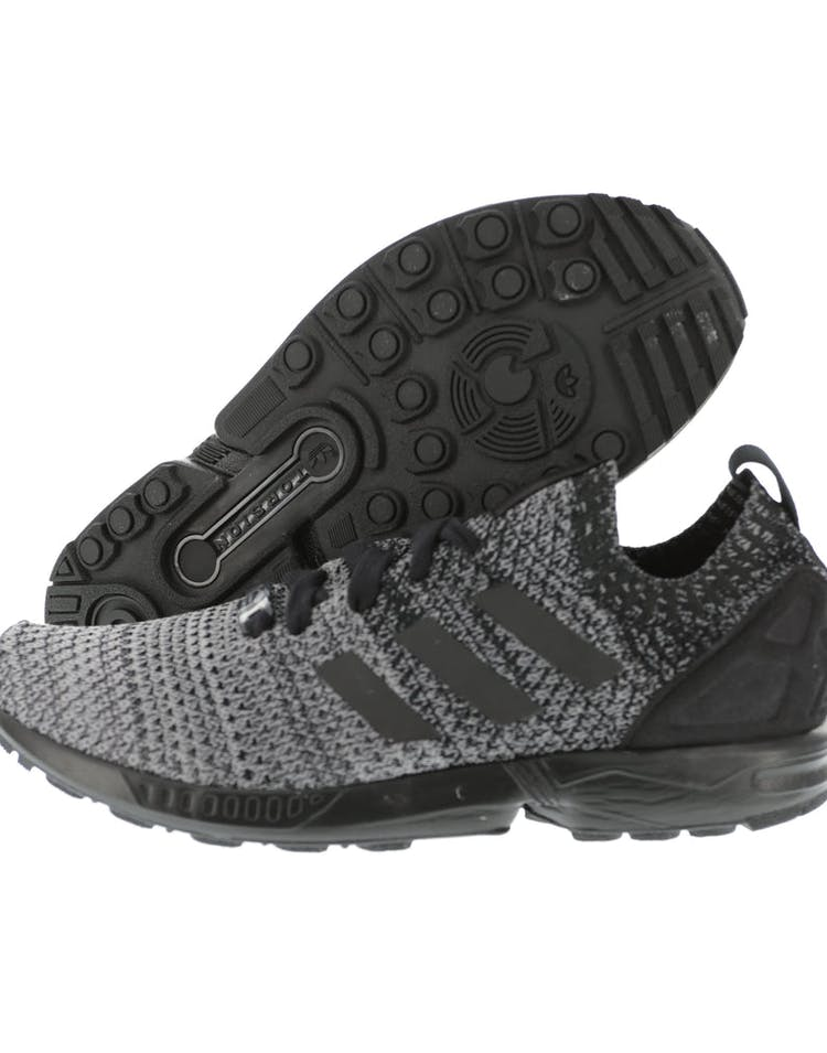 new product 33e05 e77df Adidas Originals ZX Flux Primeknit Black/White