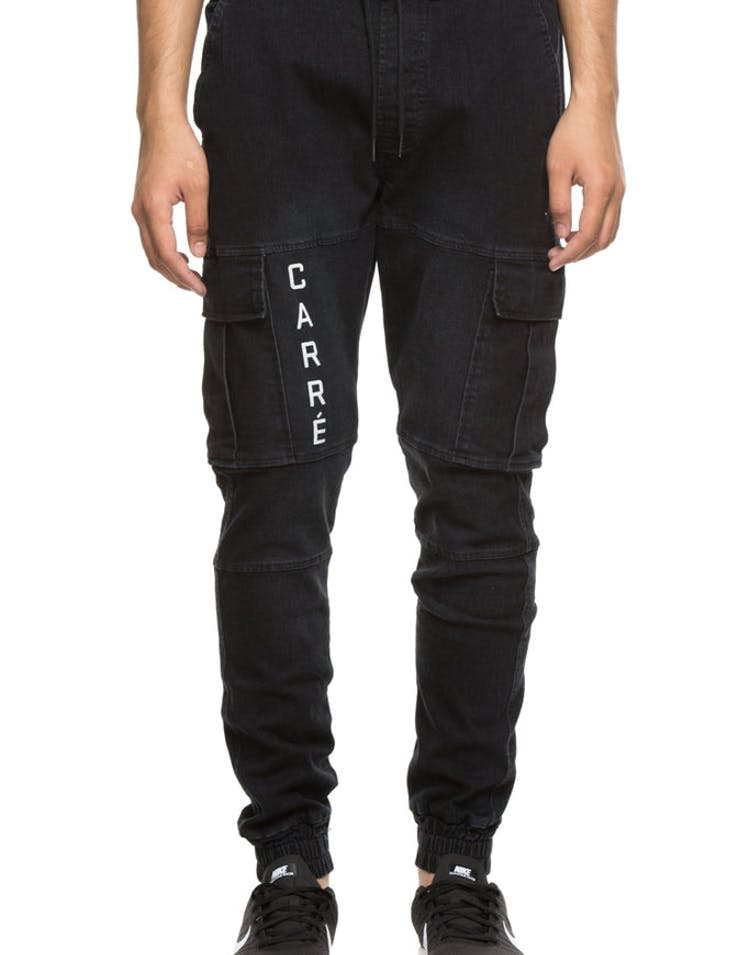 Carré Precis Denim Cargo Jogger Black