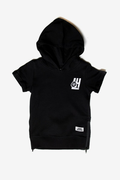 Lil Homme Faucon SS Hoodie Black