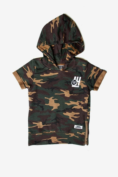 Lil Homme Faucon SS Hoodie Camo